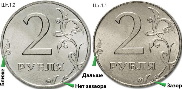 2 рубля штемпели