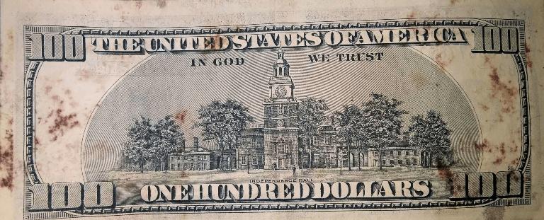 Банкнота с плесенью