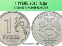 1 рубль 2015 года